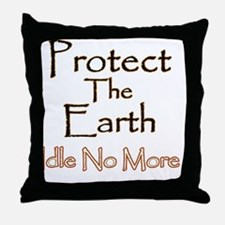 Protect The Earth 1 Throw Pillow