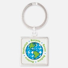 Five Rs Square Keychain