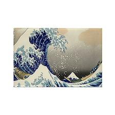 Japanese Tsunami Art Rectangle Magnet