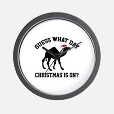 Guess What Day Christmas Is On? Wall Clock
