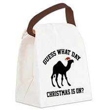 Guess What Day Christmas Is On? Canvas Lunch Bag
