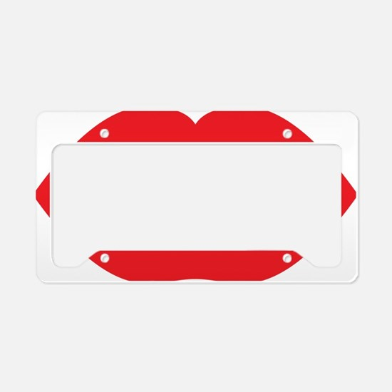 Red Hot Lips License Plate Holder