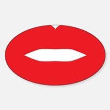 Red Hot Lips Decal