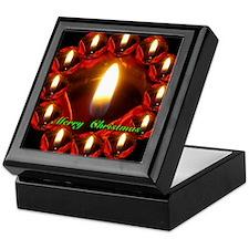 Twelve Rose Candles Merry Christmas Keepsake Box