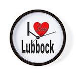 I Love Lubbock Wall Clock