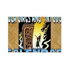 Hula Girls and Tiki Gods Calendar Rectangle Magnet