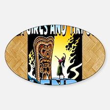 Hula Girls and Tiki Gods Calendar Decal