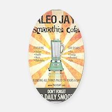 Paleo Jays Smoothie Cafe Oval Car Magnet