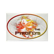 PyroFlys Logo Rectangle Magnet