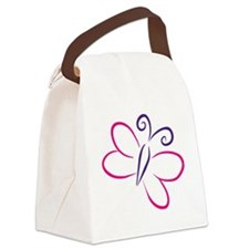 butterfly Canvas Lunch Bag