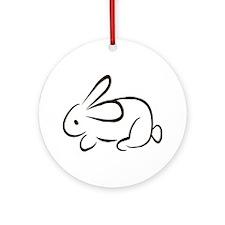 rabbit Round Ornament