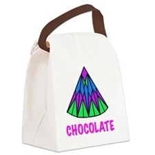 CHOCOLATE, abstract Canvas Lunch Bag