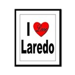 I Love Laredo Framed Panel Print
