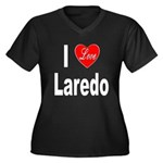 I Love Laredo (Front) Women's Plus Size V-Neck Dar