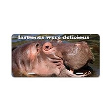 Send more tourists... hippo Aluminum License Plate