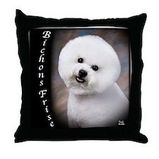 Bichons Frises Throw Pillow