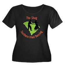 The Shag Women's Plus Size Dark Scoop Neck T-Shirt
