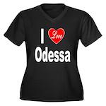 I Love Odessa (Front) Women's Plus Size V-Neck Dar