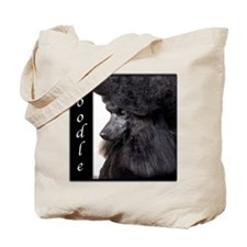 Poodle-Black Show Coat Tote Bag