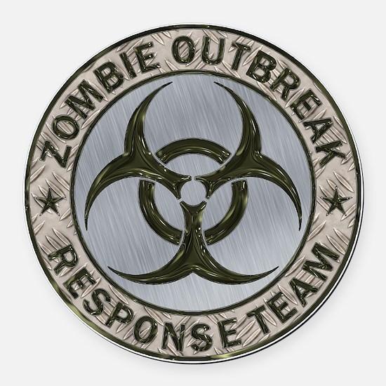 Zombie Response Team Color Round Car Magnet