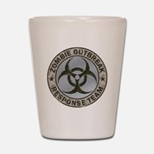 Zombie Response Team Color Shot Glass