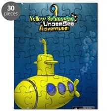 Yellow Submarine Undersea Adventure Poster Puzzle