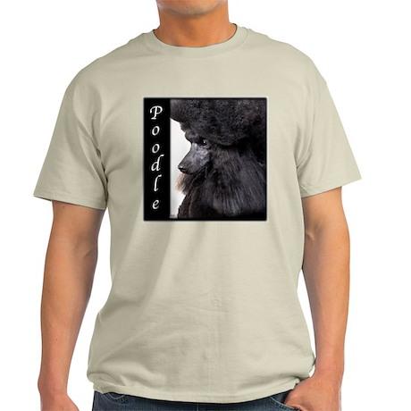 Poodle-Black Show Coat Light T-Shirt