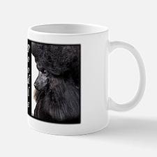 Poodle-Black Show Coat Mug