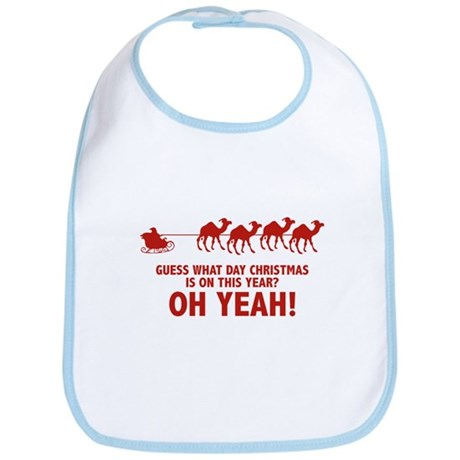 Guess What Day Christmas Is On This Year? Bib