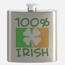 100% Irish Flask