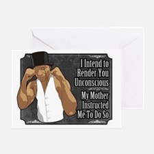 Knock Out Greeting Card