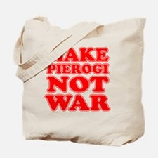 Make Pierogi Not War Apron Tote Bag