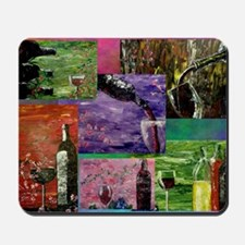 Wine Collage 1 Mousepad
