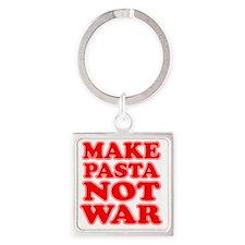 Make Pasta Not War Apron Square Keychain