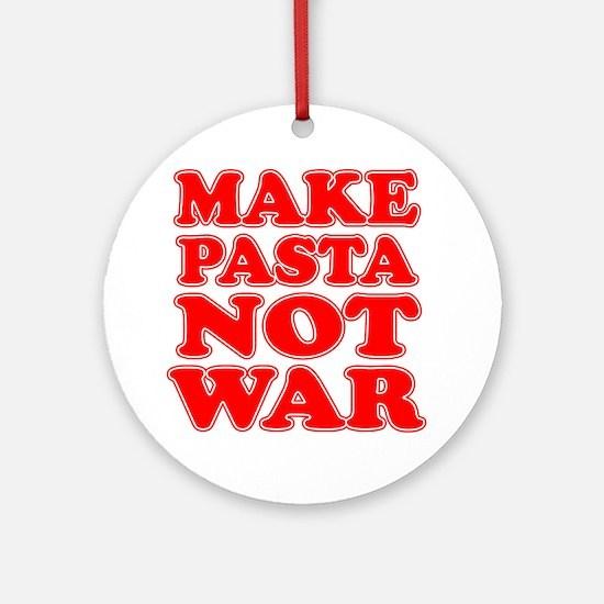 Make Pasta Not War Apron Round Ornament