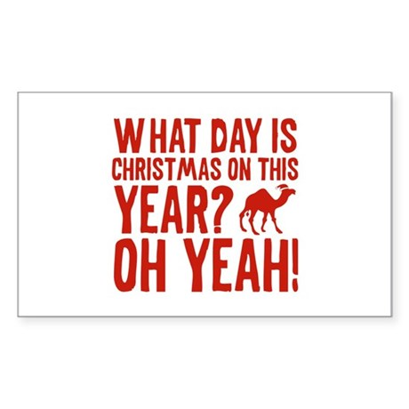 Guess What Day Is Christmas On This Year? Sticker