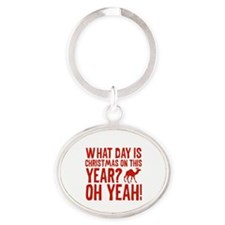 Guess What Day Is Christmas On This Year? Oval Key