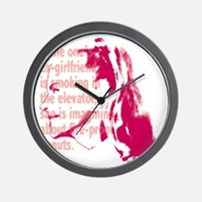 orng_ex-girl Wall Clock