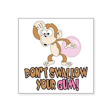 """Monkey Fun Square Sticker 3"""" x 3"""""""