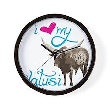 Love My Watusi Wall Clock