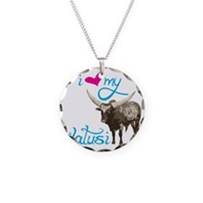 Love My Watusi Necklace Circle Charm