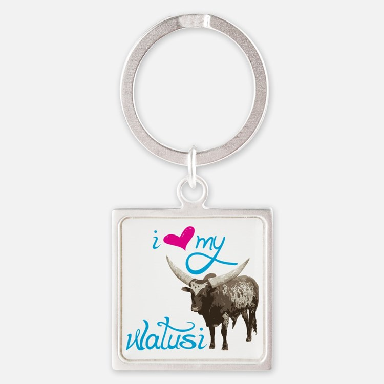 Love My Watusi Square Keychain
