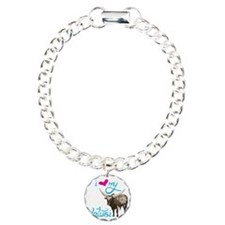 Love My Watusi Charm Bracelet, One Charm