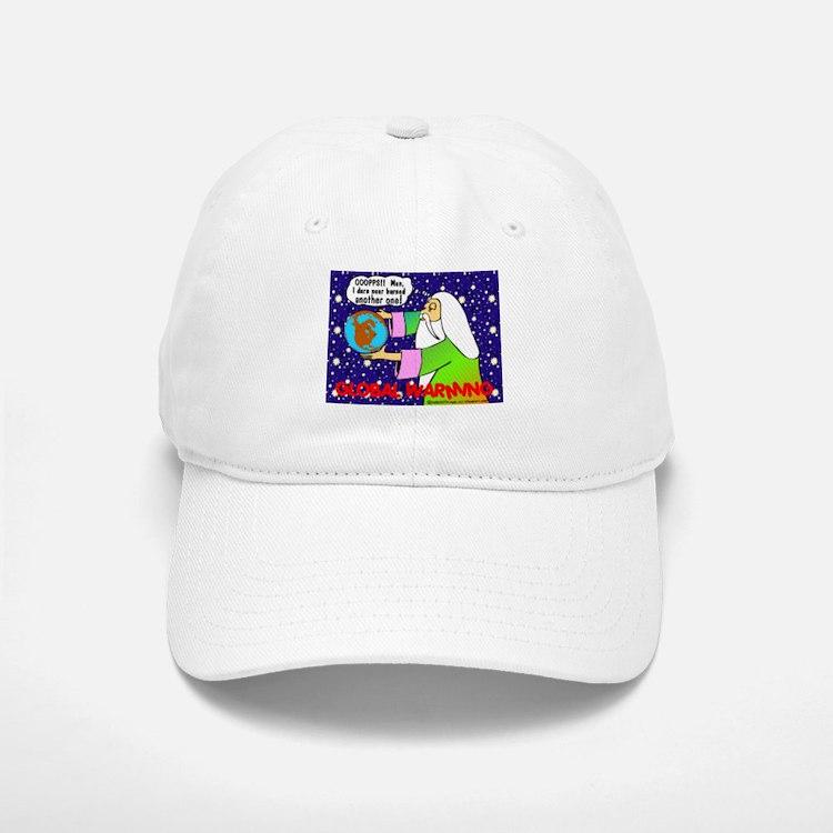 GLOBAL WARMING & GOD Baseball Baseball Cap