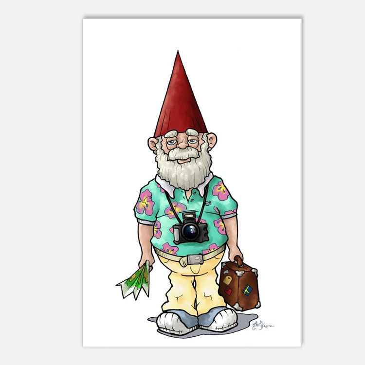 Tourist Gnome Postcards (Package of 8)