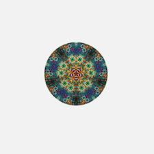 Fractal Spring Swatch Kaleidoscope Mini Button