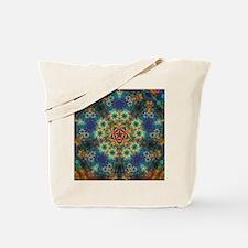 Fractal Spring Swatch Kaleidoscope Tote Bag