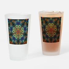 Fractal Spring Swatch Kaleidoscope Drinking Glass