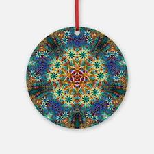Fractal Spring Swatch Kaleidoscope Round Ornament