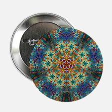 "Fractal Spring Swatch Kaleidoscope 2.25"" Button"